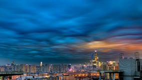 The strange clouds. At Shanghai stock photo