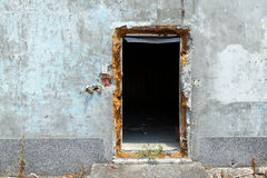 Strange creepy doorway Stock Photo