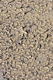 Strange crusty patterns in sand on beach in Spain Royalty Free Stock Images