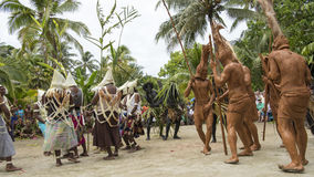 Mud people dance ceremony, Solomon Islands Royalty Free Stock Image