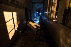 Strange device. Strange medical device in abandoned sanatorium Stock Photography