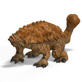 Strange dinosaur Ankylosaurus With Clipping Path. Over white Royalty Free Stock Images