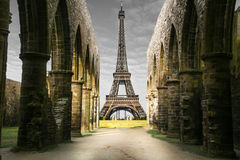 Strange Eiffel Tower Royalty Free Stock Photography
