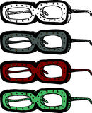 Strange Eyeglasses Stock Images