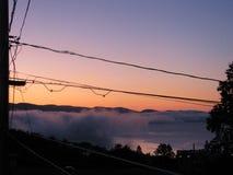 Strange fog. Over Gaspé, Québec Stock Images