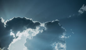Strange form of clouds Stock Photography