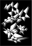 Strange formations. Strange white formations on a black background stock illustration