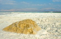 Strange forms and colors of salt, Dead sea Stock Photo