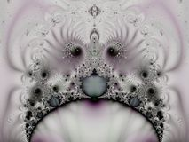 Strange Fractal Swirls Pattern royalty free illustration