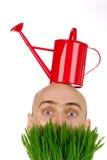Strange gardener Royalty Free Stock Image