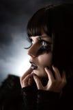 Strange girl with creative make-up Royalty Free Stock Photo