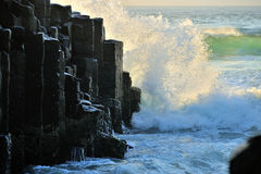 Strange granite rocks at Fingal Heads Royalty Free Stock Photography