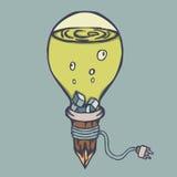 Strange Green Lamp Creative Design Royalty Free Stock Photos