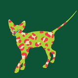 Strange Green Leopard Cat Print Stock Photography