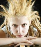 Strange hairdo Stock Image