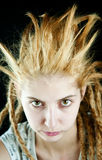 Strange hairdo Royalty Free Stock Images