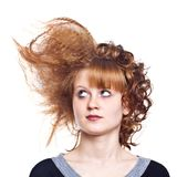 Strange hairdress Royalty Free Stock Photography