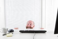 Happy and Strange Businessman Stock Images