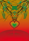 Strange heart. Illustration () abstract art with heart Royalty Free Stock Photo
