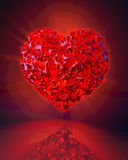 Strange heart Stock Photo