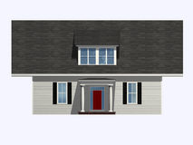 Strange House. Isometric front view of house with an over sized roof Stock Images