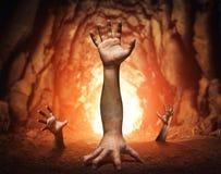 Strange human hands Stock Photos