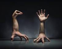 Strange human hands Royalty Free Stock Photography