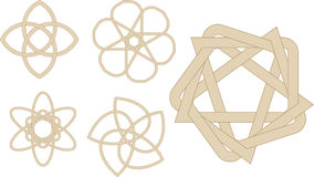 Strange knots. Abstract vector illustration of strange knots Stock Photos