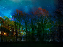 Strange lights in the sky. Royalty Free Stock Photos
