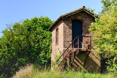 Strange little building somewhere in a rural area Stock Photography