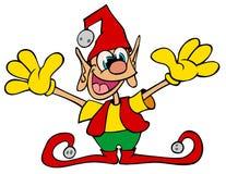 Strange little elf. Oddball creature related to Santa`s Elves, zany pixie Stock Photos