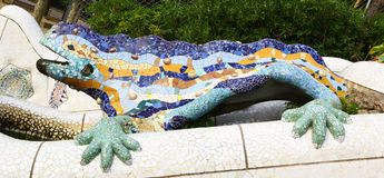Strange lizard made by Gaudì, Barcelona Royalty Free Stock Images