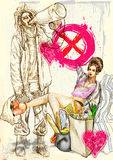 Strange Love royalty free illustration