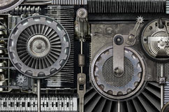 Strange Machine. Fantasy steampunk/Industrial Machine composed of old machine parts royalty free stock photography
