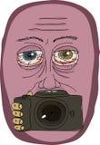 Strange Man Holding Camera Royalty Free Stock Photos