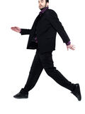 Strange  man walking in the air Stock Photography