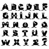 Strange Monster Alphabet Royalty Free Stock Photos
