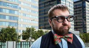 Strange nerd Stock Photo