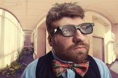 Strange nerd Stock Image