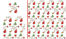 Strange after New Year holidays fantasy seamless pattern. Sketch styled picture vector illustration