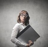Strange Office Worker Stock Image