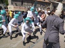 Strange parade. Royalty Free Stock Images