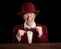 Strange person in a suit and bowler Stock Photography