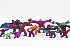 Strange plasticine people stock photo