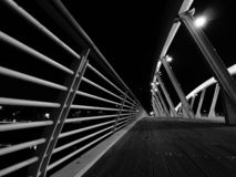 Strange prospects. Perspective detail of a modern bridge stock images
