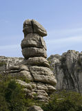 Strange rock. Andalusia, El Torcal reserve. That sort of untypical rocks one can find in the Natural Park El Torcal situated in the central part of Spanish Royalty Free Stock Photography