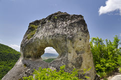 Strange Rock formation near the town of Shumen, Bulgaria, named Okoto Royalty Free Stock Photos