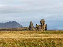 Strange rock formations. On Iceland Stock Photo
