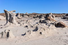 Strange rock formations in the Ischigualasto National Park, Arge Stock Photography