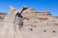 Strange rock formations in the Ischigualasto National Park, Arge Stock Photos
